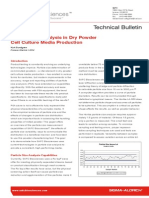 Particle Size Analysis in Dry Powder Cell Culture Media Production