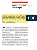 Private Payer Profits Negatively Affect Medicare Margin