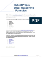Numerical Reasoning Formulas