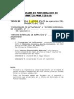 Cronograma de Presentacion de Formatos Para Tesis III (1)