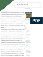 AUTOPOIESIS_ El constructivismo