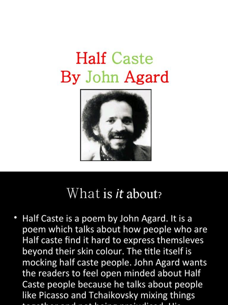 half caste analysis