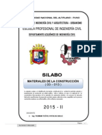Silabo Materiales 2015-II