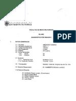 Silabo - Diagnóstico Por Imagen I 2015