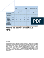 Matriz de Perfil Competitivo MPC