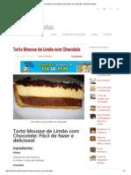 Receita de Torta Mousse de Limão Com Chocolate - Minhas Receitas