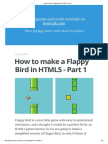 How to Make a Flappy Bird in HTML5 - Part 1