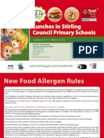 Primary School Menu October 2015 March 2016