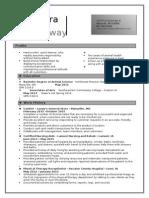 Ridgway Resume