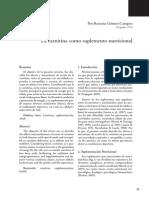 L. Carnitina como suplemento nutricional