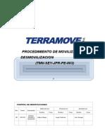 TMV SEY JPR PE 003 Movilización y Desmovilización