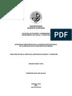 Estretegias Metafóricas en La Construcción de La Identidad Discursiva de Un Joven Mapuche Urbano