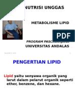 Ilmu Nutrisi Unggas Lanjutan Lipid