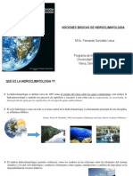 Presentacion 1. Nociones Bahidrosicas Hidroclimatologia