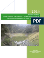 Informe Topografico Quebrada Sahuanay, Abancay (1)