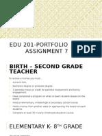 edu 201 portfolio project 7