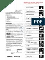 1998-2002 Honda Accord Service Manual