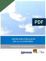 DEMOCRATIZACION DE LA ECONOMIA