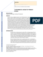 The Non-fluent Agrammatic Variant of Primary Progressive Aphasia Lancet Neurology