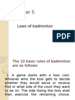 Chapter 5 Laws of Badminton