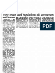 New Credit Card regulations aid consumers