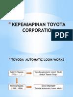 Silsilah Pimpinan Toyota Corporation