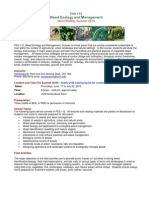 Weed Ecology & Management - PSS 112 BU1 - Course Syllabus or Other Course-Related Document