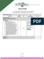 Board of Appeals - Agenda - 04.08.2010