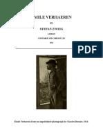 Émile Verhaeren - Zweig