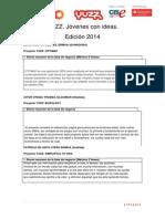 Resumen Proyectos Yuzz Ermua 2014