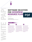 Software Selection for Enterprise Resource Planning Whitepaper