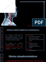 Farmacos Simpaticomimeticos o Adrenergicos