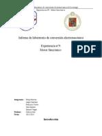 Informe de laboratorio de conversión electromecánica n°9
