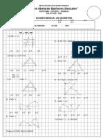 Examen de Geometria Primero Sec
