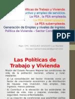 sesion N° 11 Las politicas de trabajo y vivienda