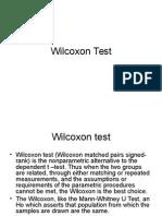 wilcoxon test
