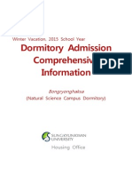 Dormitory Admission Comprehensive Information(2015-Winter)