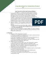 interpretive planning worksheet- ipw