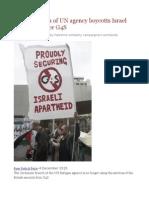 Jordan Branch of UN Agency Boycotts Israel Prison Profiteer G4S