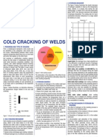 Cold Cracking of Welds Sodel