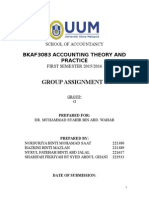 earning management group assignment