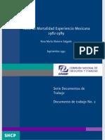 Tabla de Mortalidad Experiencia Mexicana 1982-1989