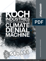 Koch Industries Secretly Funding the Climate Denial Machine