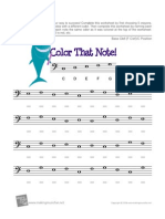 Color That Note Bass Clef c Position