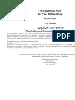 ProBP Coffee Shop Spreadsheet Business Plan