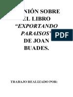 EXPORTANDO PARAISOS