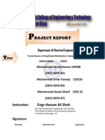 Front Page of Amplitude Modultion of PSK