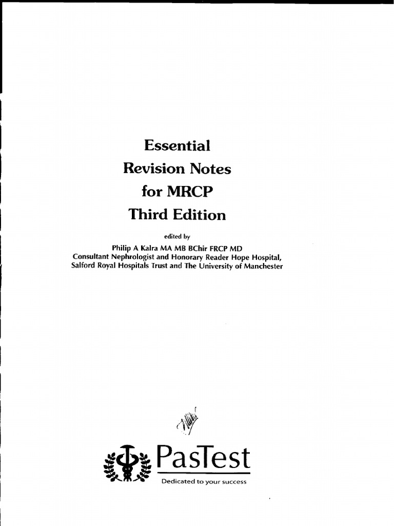 Essential Revision Notes For Mrcp 3rd Edition Pdf
