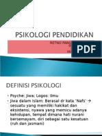 Psikologi Pendidikan i