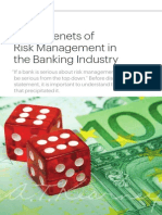Seven Tenets of Risk Management in Banking